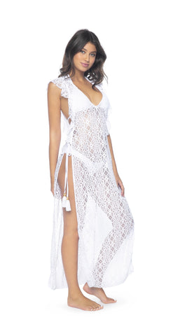 Gottex Pearl Goddess Kimono Cover-up in Ivory 17PG-627-106