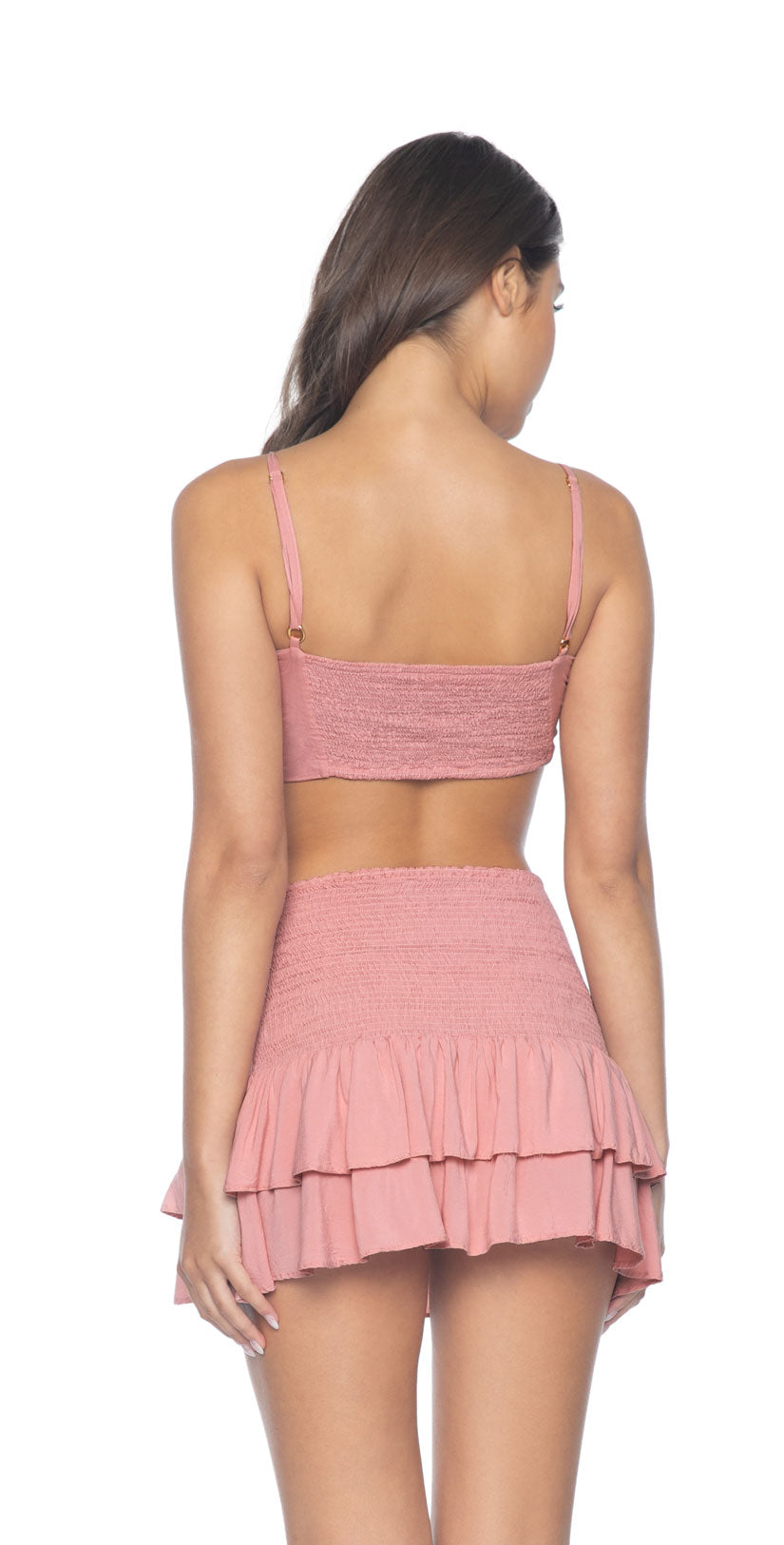 PilyQ Dusty Rose Cleo Tie Top back