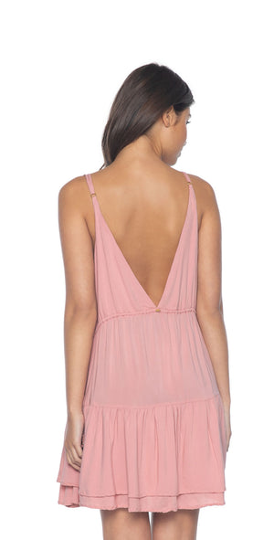 PilyQ Dusty Rose Jessa Dress  back