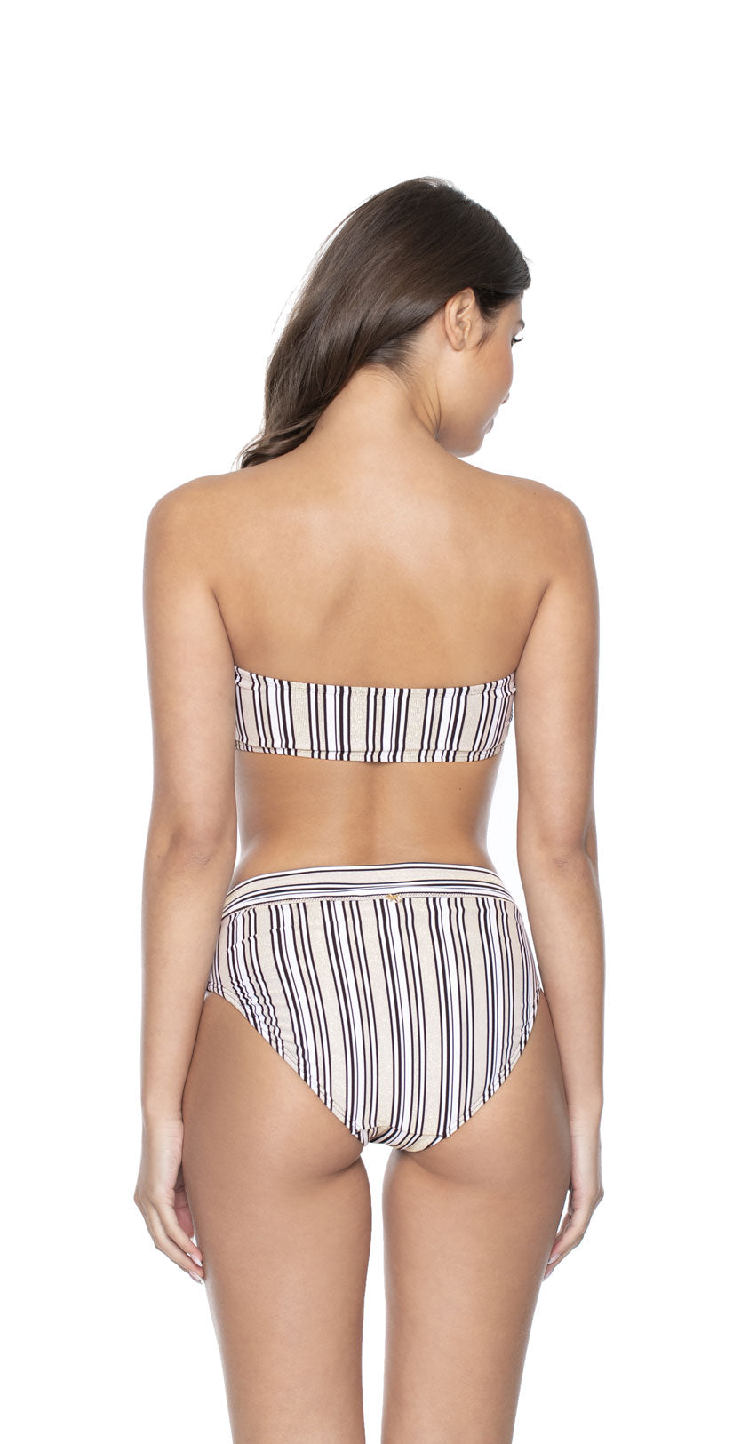 PilyQ Harbour Stripe Tube Bandeau back