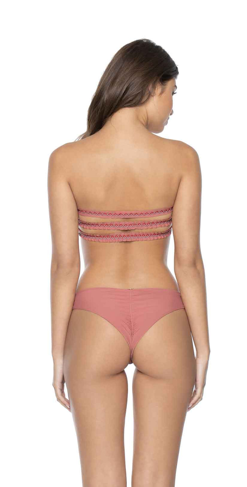 PilyQ Lotus Basic Ruched Teeny Bikini Bottom back