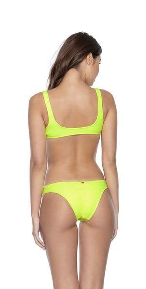 PilyQ Pineapple Reef Ring Side Halter Top back