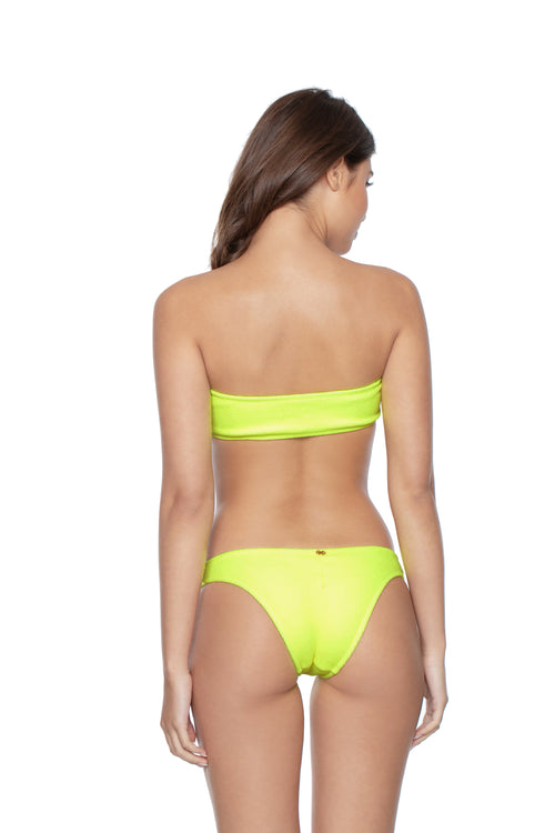 PilyQ Pineapple Reef Tube Bandeau Top  back