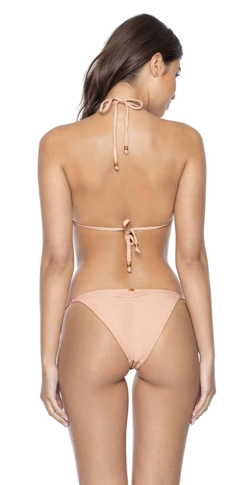 PilyQ Pink Sand Tie Side Teeny Bikini Bottom: