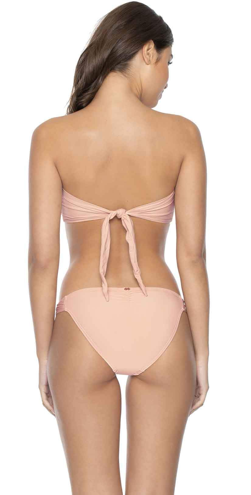 PilyQ Pink Sand Lace Fanned Full Bikini Bottom: