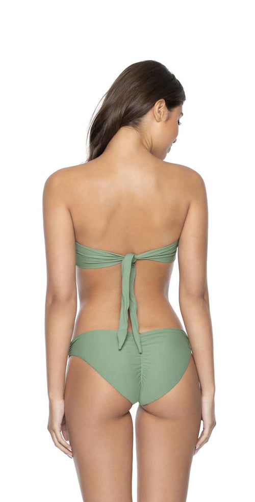 PilyQ Sage Color Block Bandeau Top back