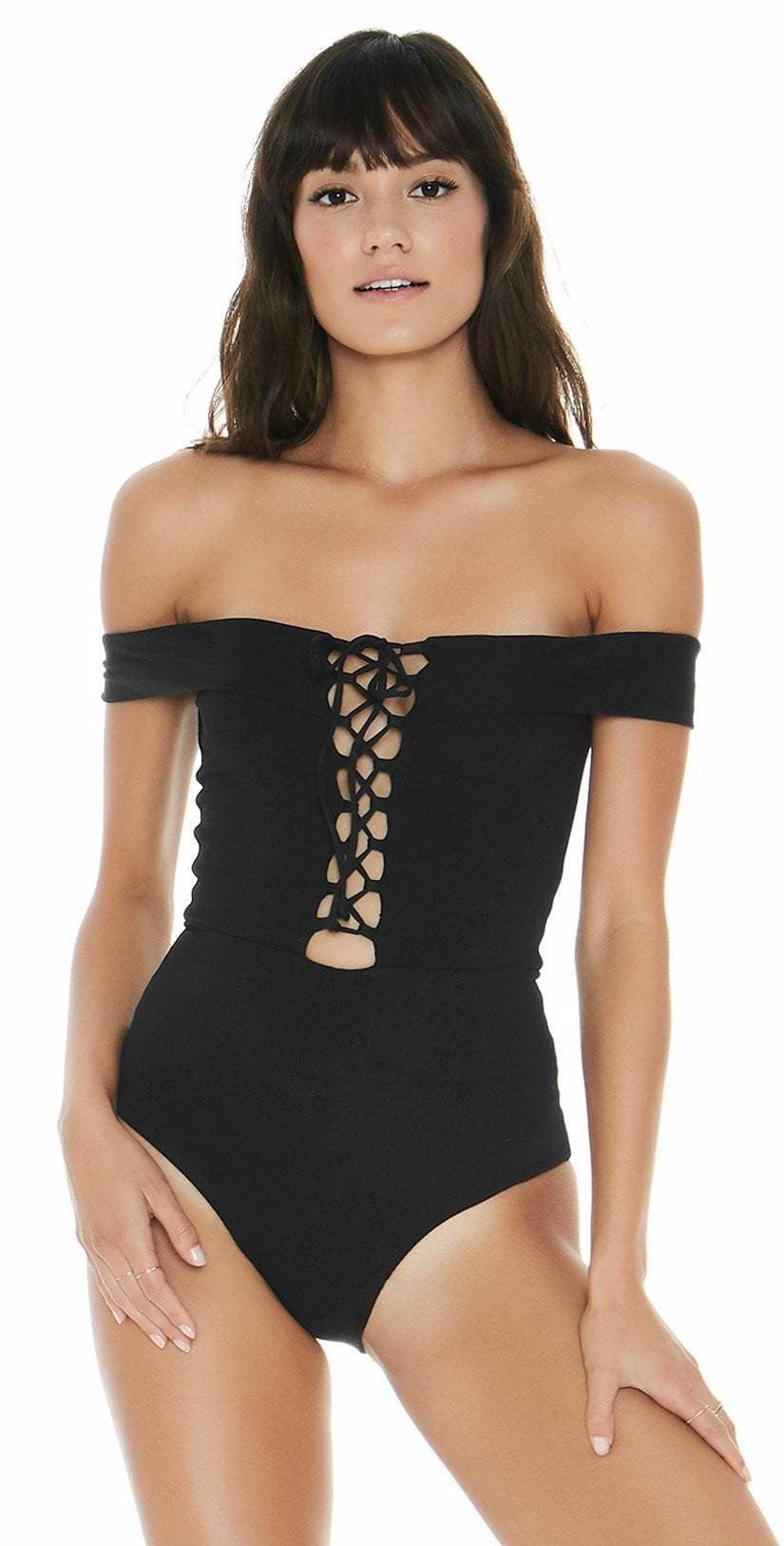 9fa6ad632fe L Space Anja One Piece In Black RHAJMC18-BLK – South Beach Swimsuits