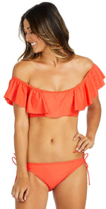 Raisins Sayulita Sweet Pea Tie Side Bottom in Red  Y710045-RED: