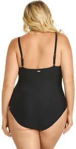 Raisins Curve Ola One Piece Swimsuit in Black Y840085-BLK: