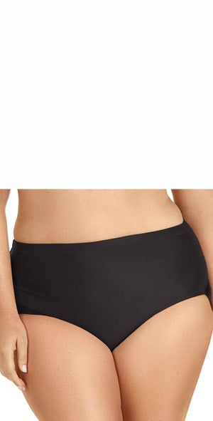 Raisins Curve Shoreline Bottom in Black Y840062-BLK: