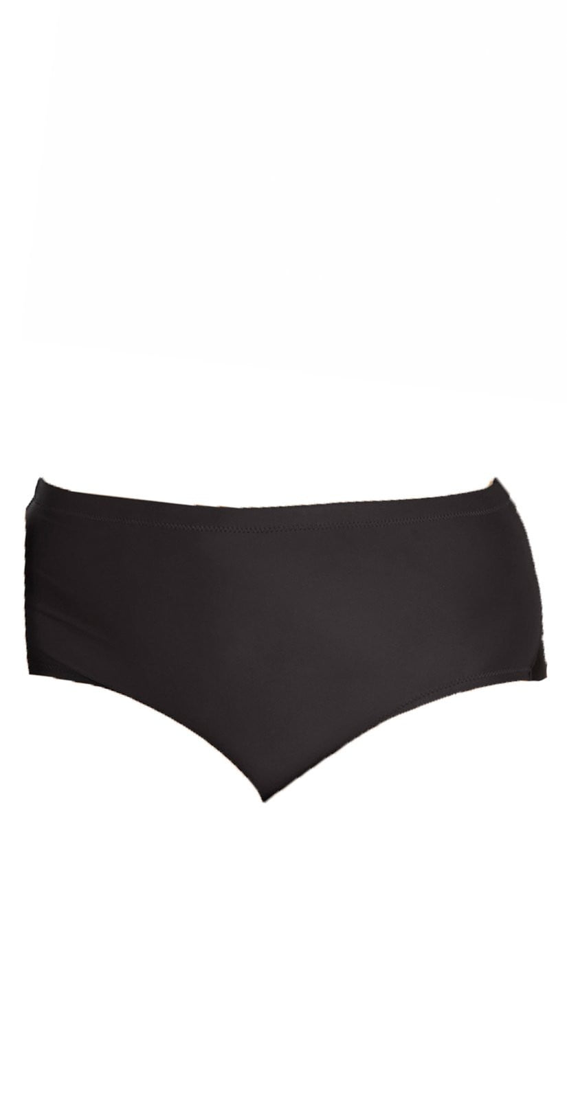 Raisins Curve Shoreline Bottom in Black Y840062-BLK front view of bottom only