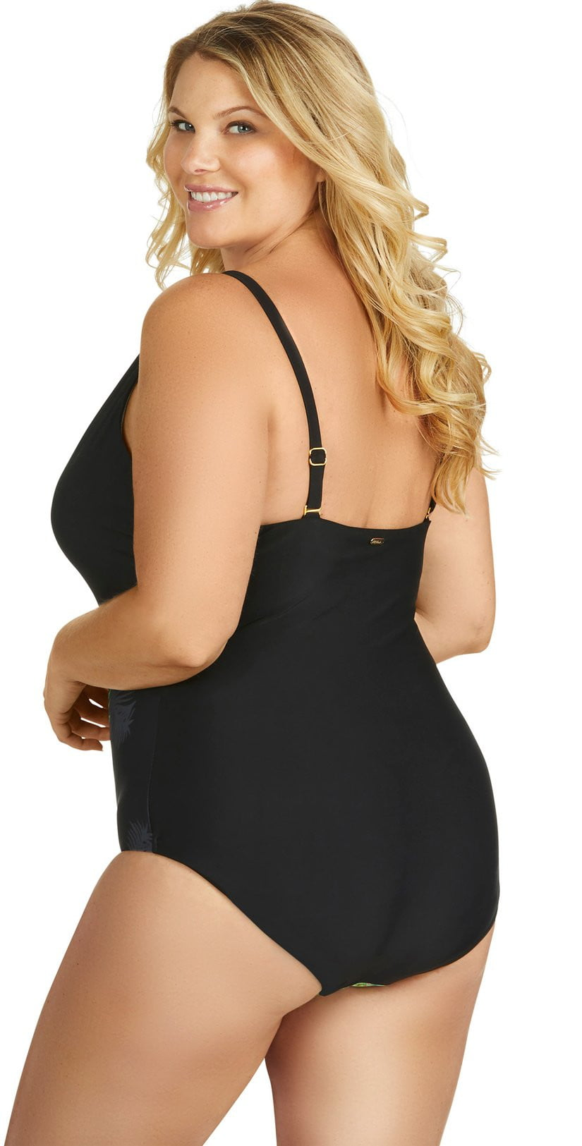 Raisins Curve Keys One Piece Swimsuit Y840284-BLK: