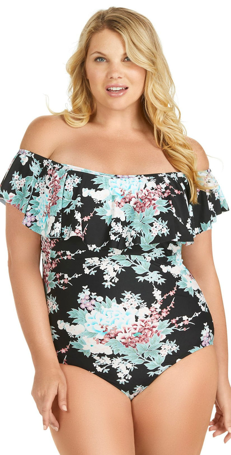 Raisins Curve Tortuga Off the Shoulder One Piece Swimsuit Y840581: