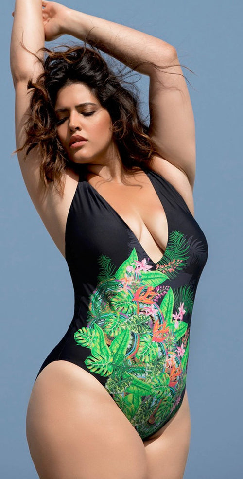 Raisins Curve Keys One Piece Swimsuit Y840284-BLK