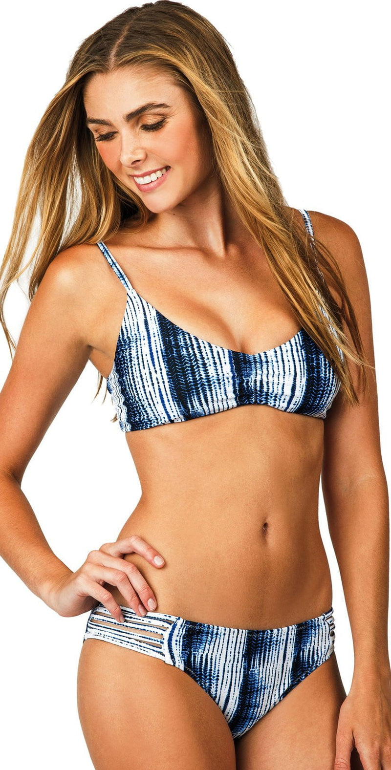 Raisin Indigo Nights Shore Break Bikini Bottom W710451-BLK: