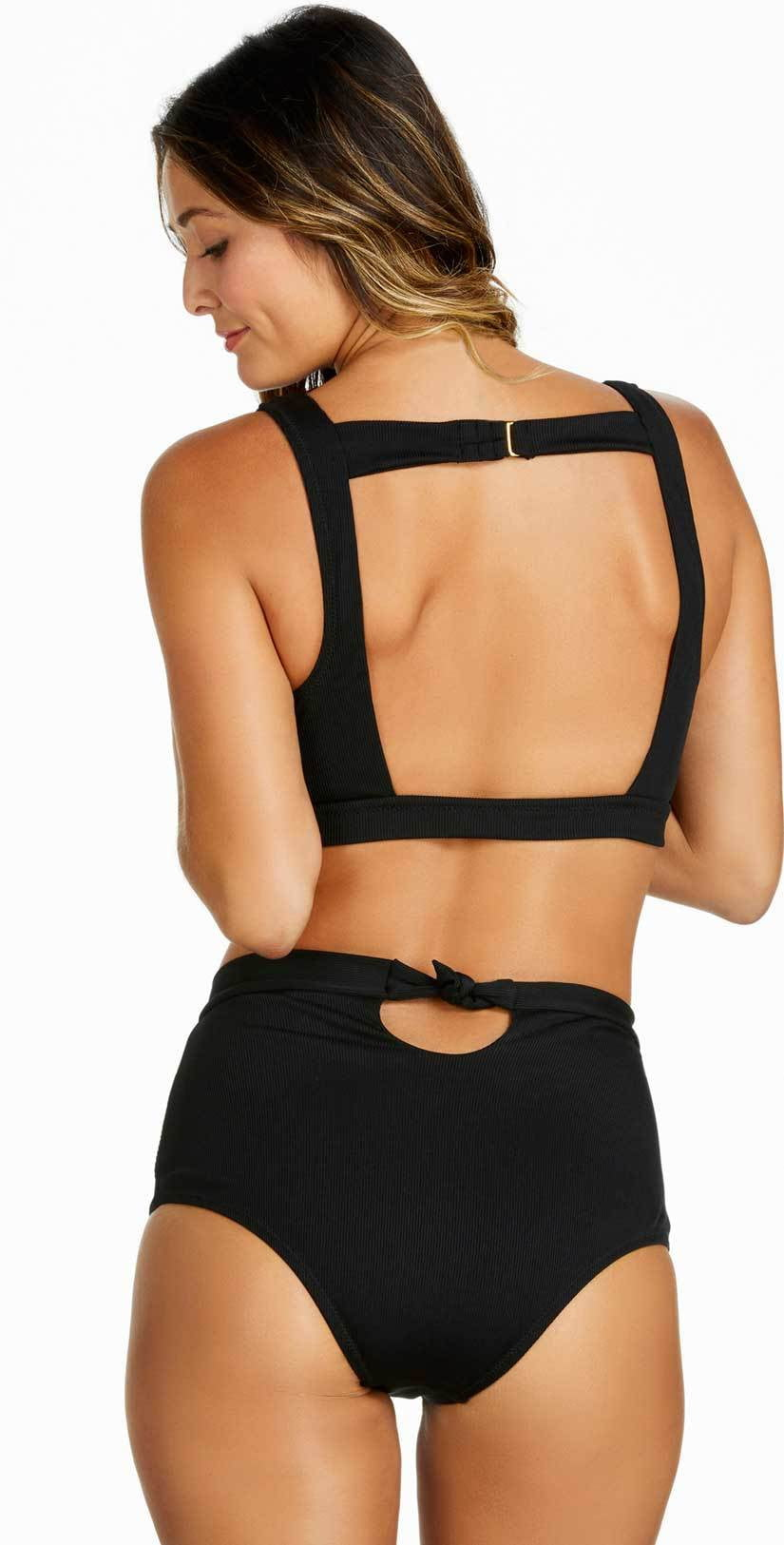 Raisins Ribbed Summer Halter Top and bottom back