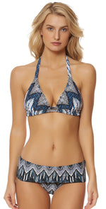 Red Carter Indigo Blues Halter Top RCIB117D02-IND/MLT: