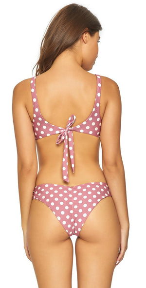PilyQ Dot Basic Ruched Teeny Bottom DOT-211T: