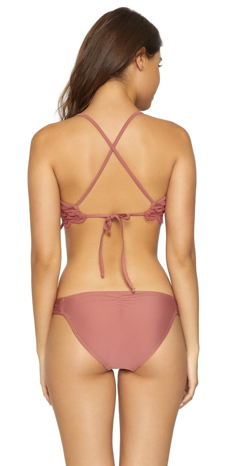 PilyQ Dusty Rose Lace Fanned Bottom DUS-251F: