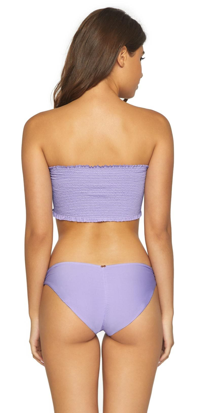 PilyQ Basic Ruched Full Bottom in Lavender LAV-211F: