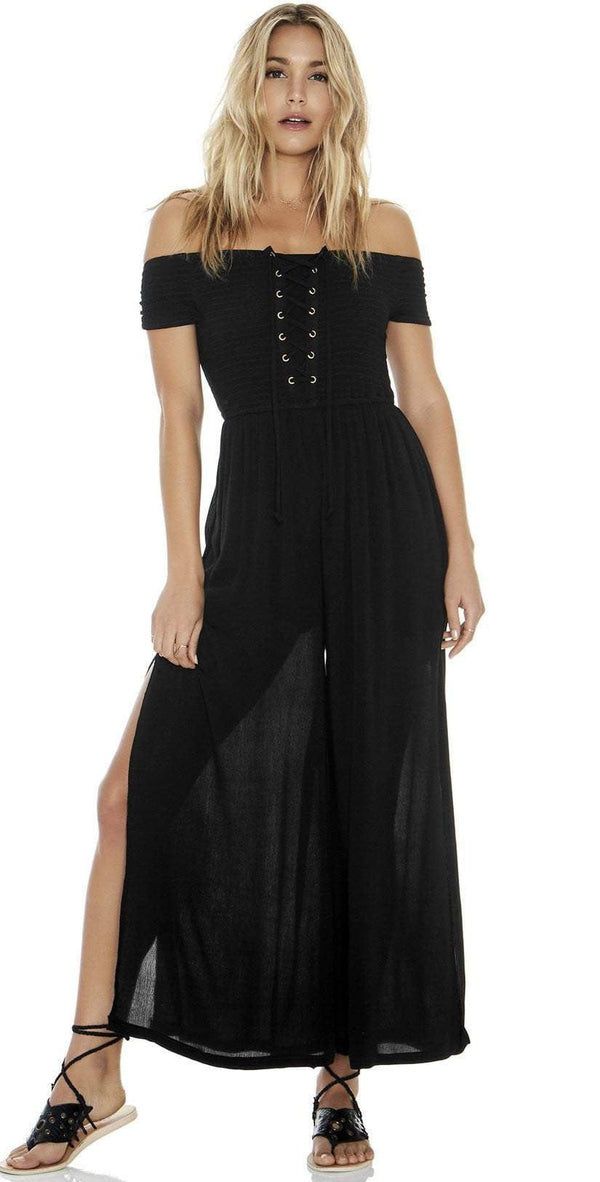 L Space Sao Paulo Romper in Black SAPJU18-BLK