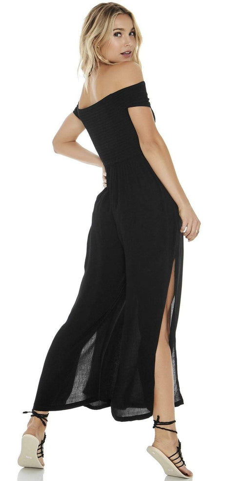 L Space Sao Paulo Romper in Black SAPJU18-BLK: