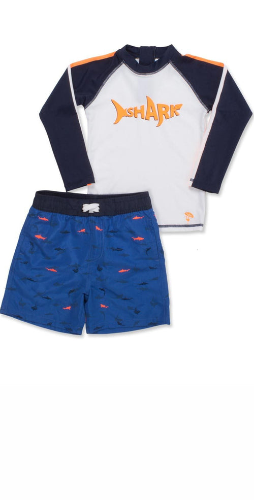 Shade Critters Boys Shark Rash Guard Set SB02A-071