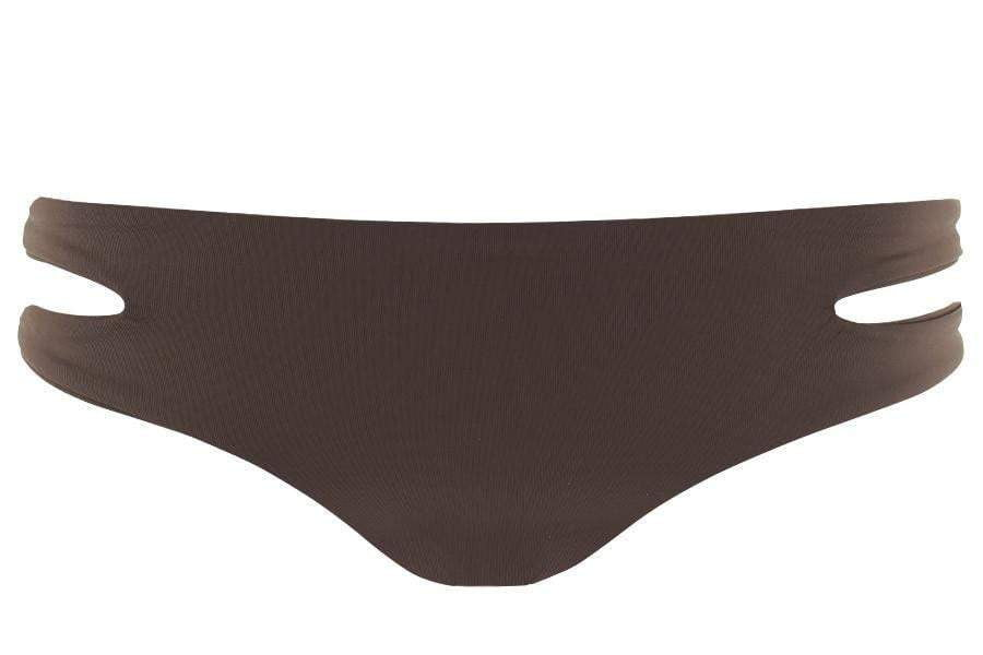 L Space Sensual Solids Estella Bottom In Chocolate SS32C14-CHO flat lay bottom