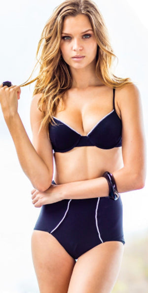 Sauvage Retro Pin-Up Glam Underwire Push Up Top 4811BLK: