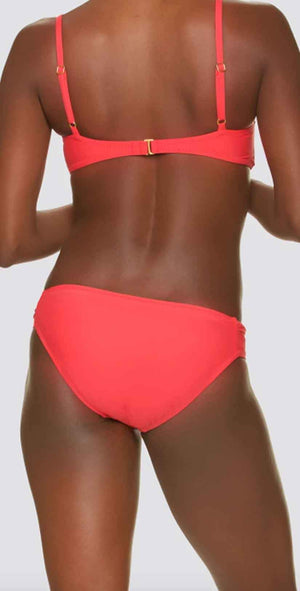 Draper James for Helen Jon Tab Side Hipster Bikini Bottom in Solid Ginger: