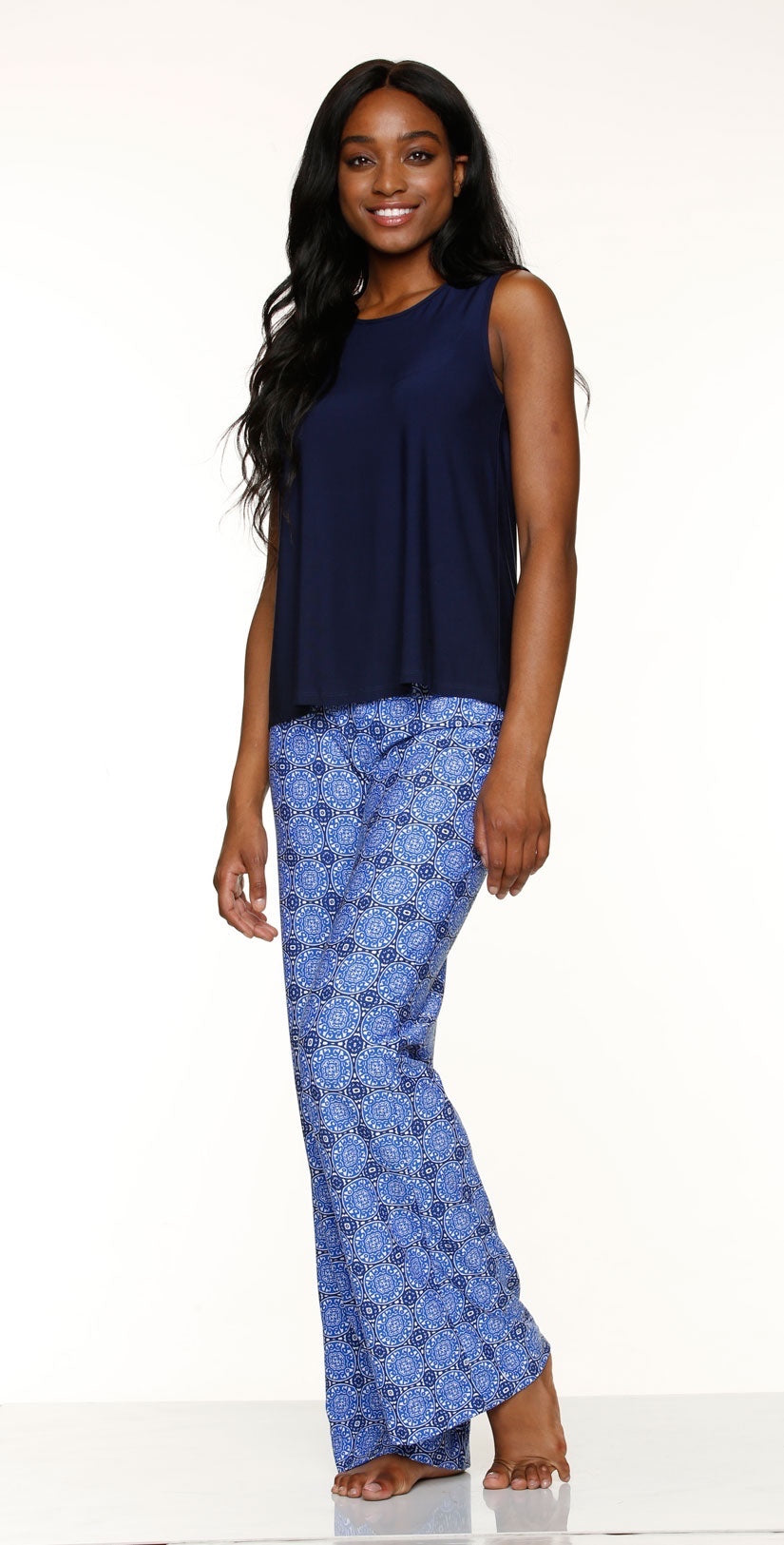 Helen Jon Fold-Over Beach Pant in Antibes front