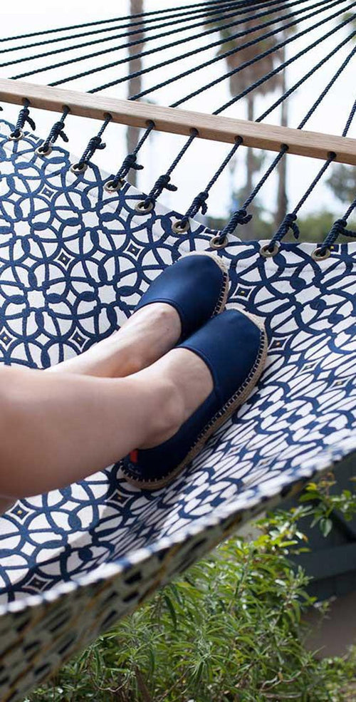 Sea Star Beachwear Ladies Espadrille in Dark Navy