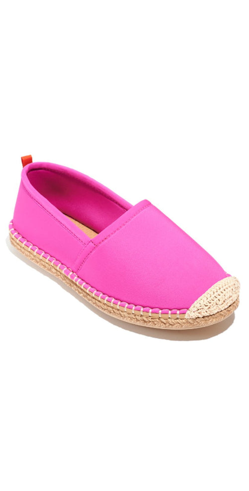 Sea Star Beachwear Kid's Beachcomber Espadrille in Hot Pink