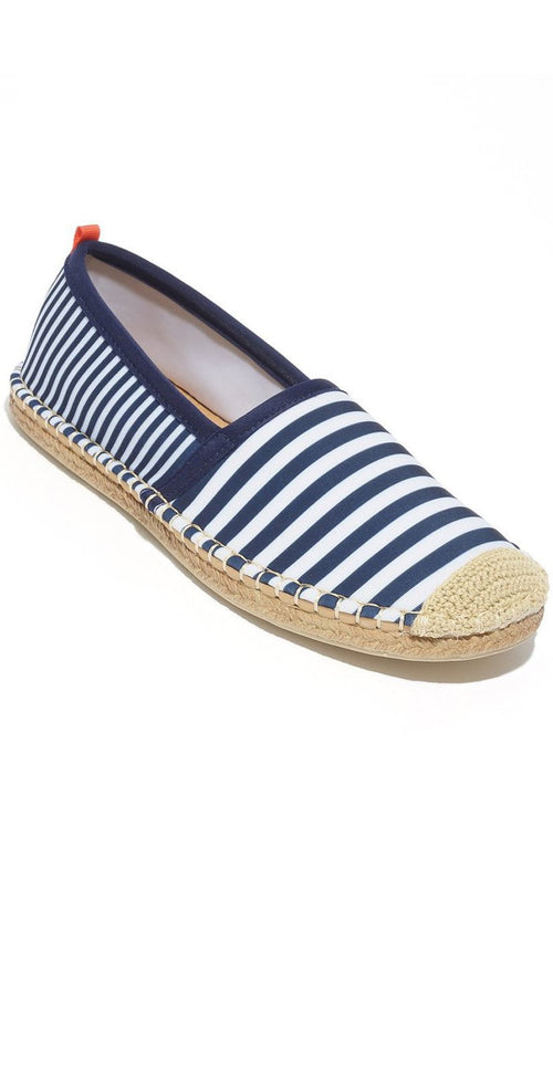 Sea Star Beachwear Ladies Beachcomber Espadrille in Navy Stripe