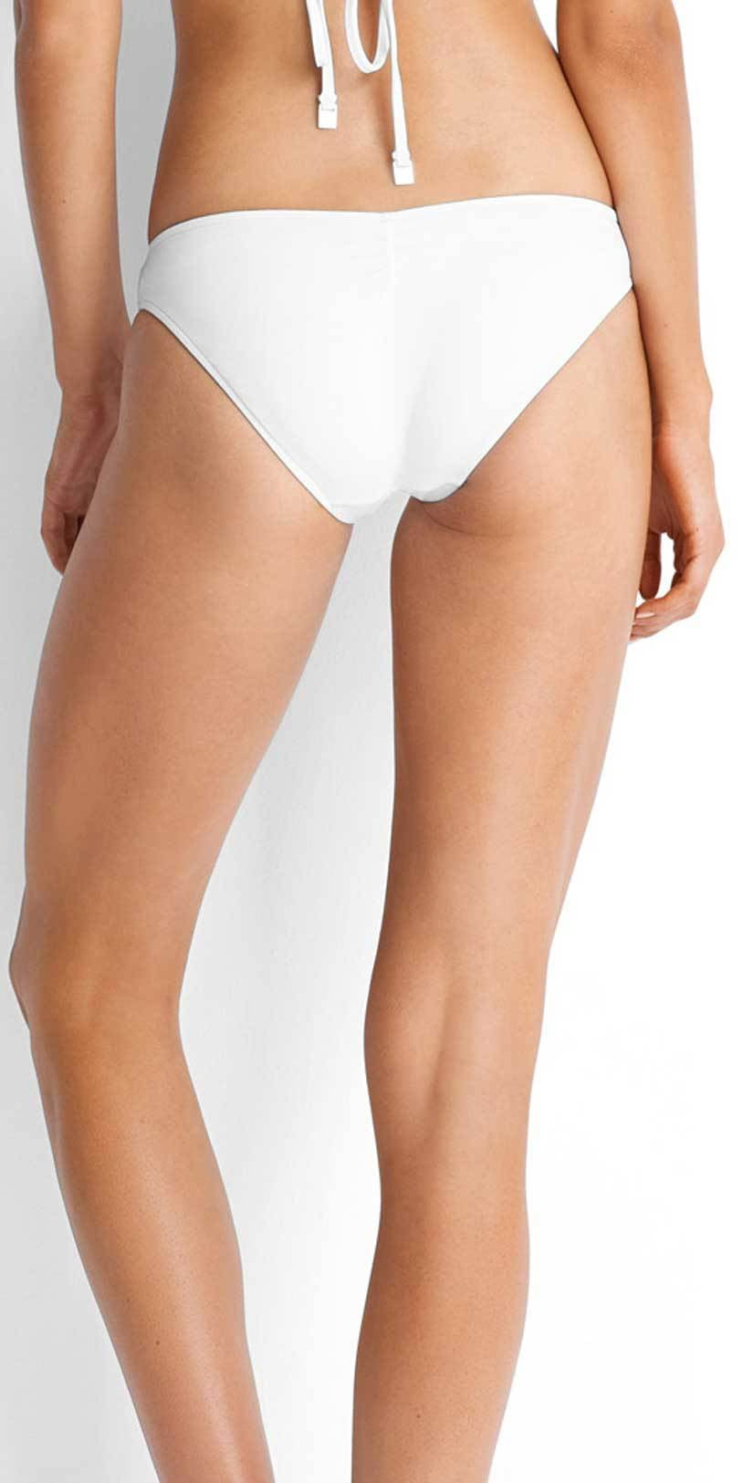 Seafolly Quilted White Hipster Bottom 40463-065-WHITE back studio