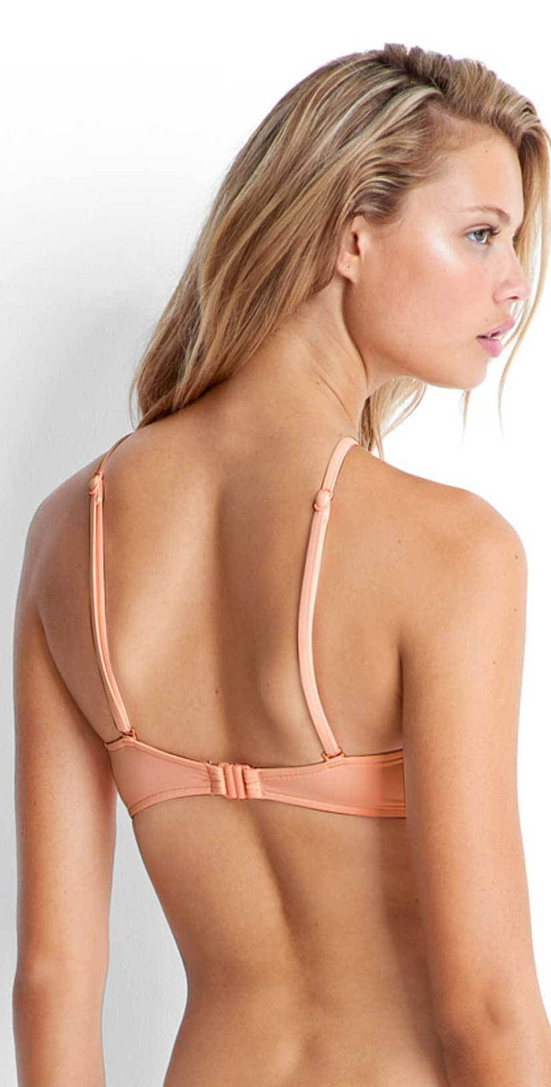 Seafolly Havana High Neck Top in Peach 30643-074-PCH: