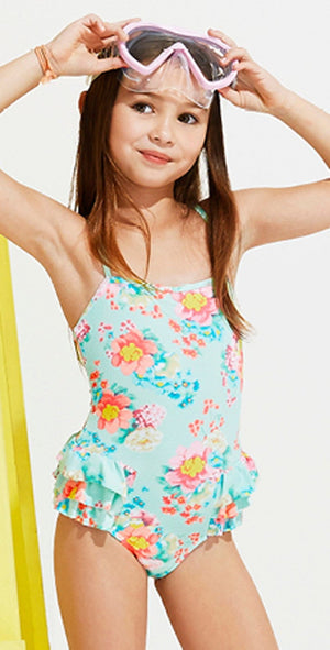 Seafolly Girls Spring Bloom One Piece Swimsuit 15417T: