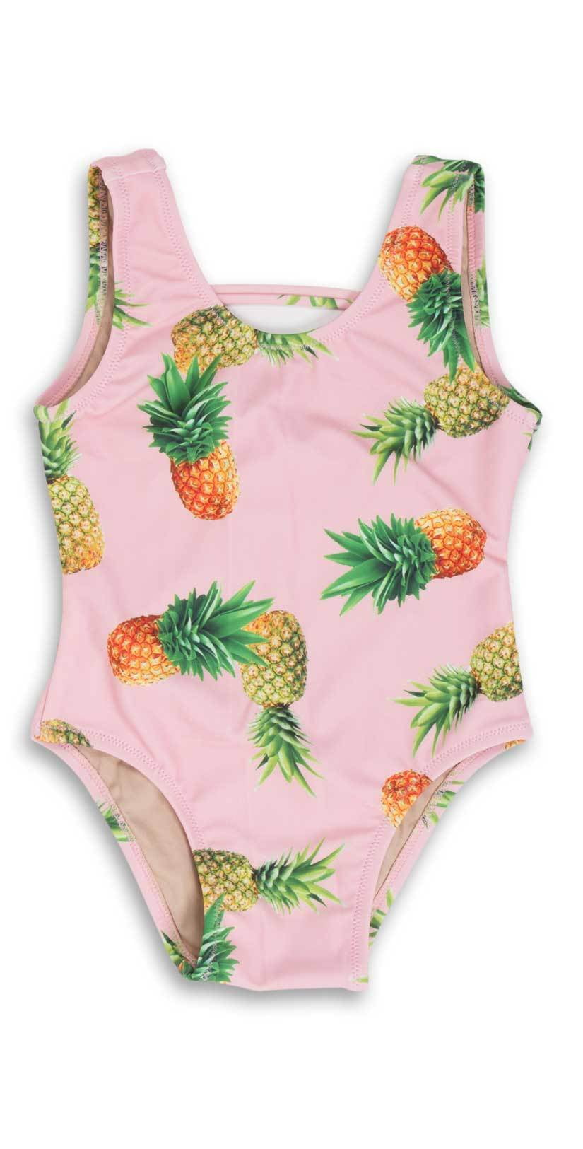 Shade Critters Girls Pineapple One Piece Swimsuit in Pink-SG01A-010: