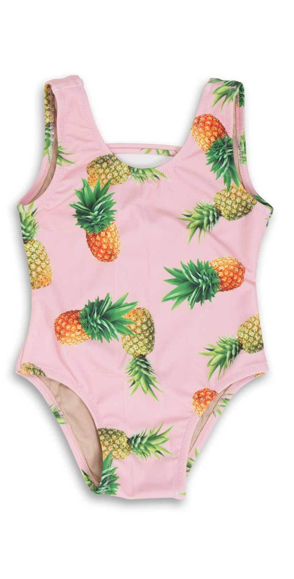 Shade Critters Girls Pineapple One Piece Swimsuit in Pink-SG01A-010