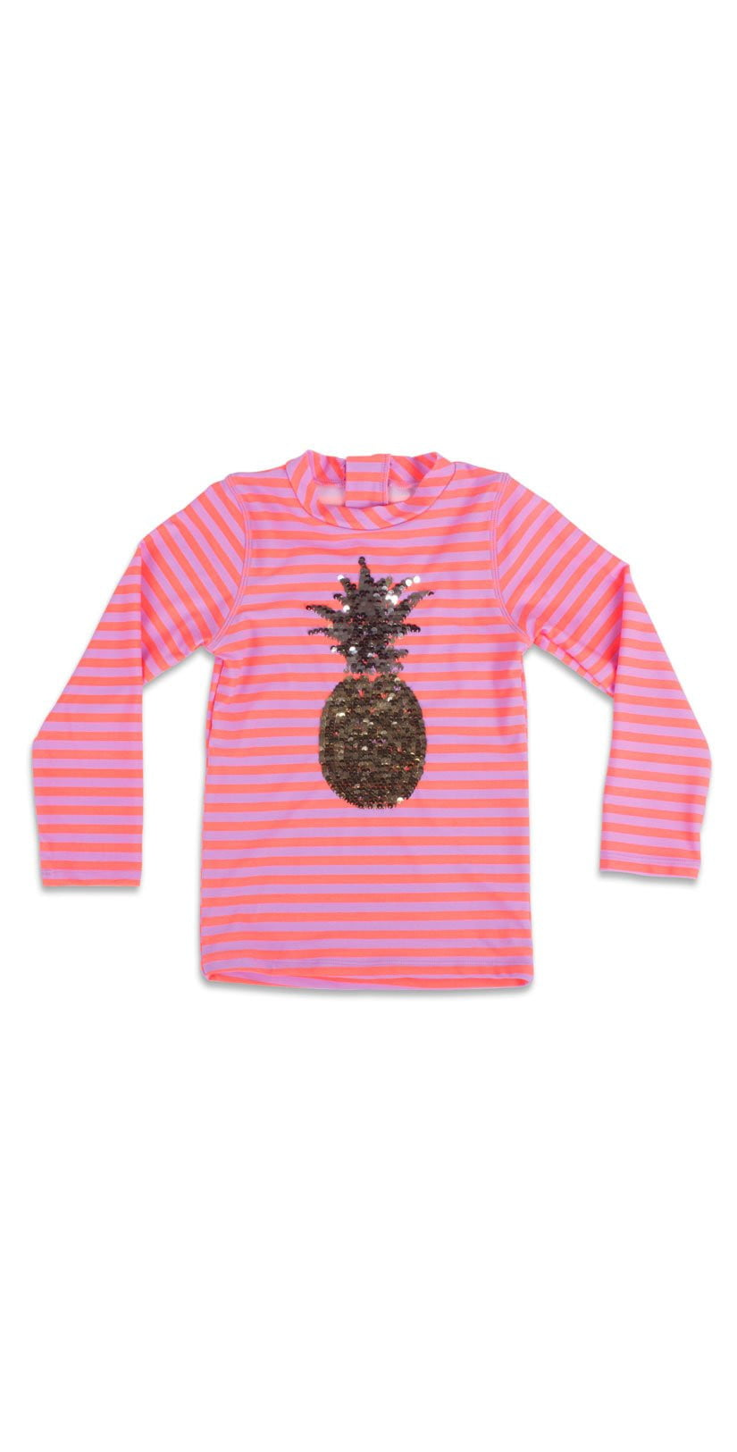 Shade Critters Girl's Magic Sequin Pineapple Rashguard Top SG03A-PIN: