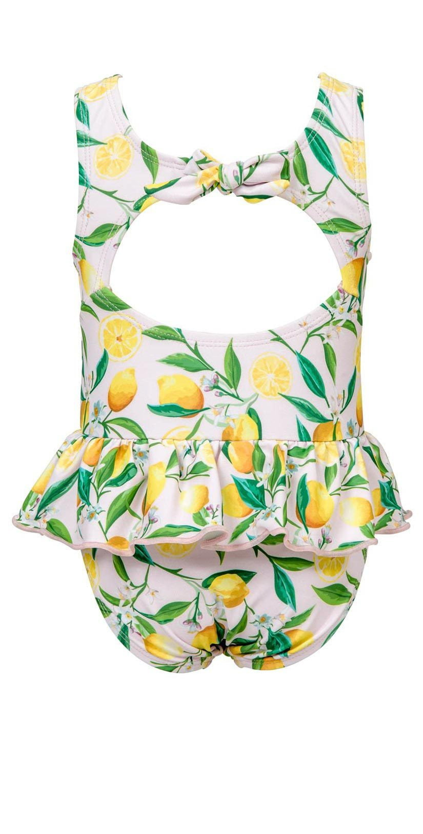 Baby girl yellow lemon swimsuit