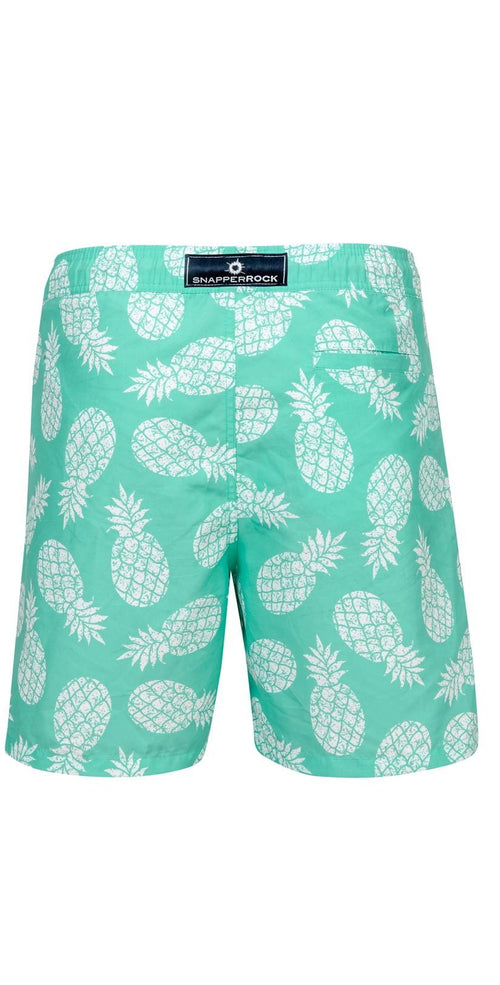 Snapperrock Boy's Mint Pineapple Board Short