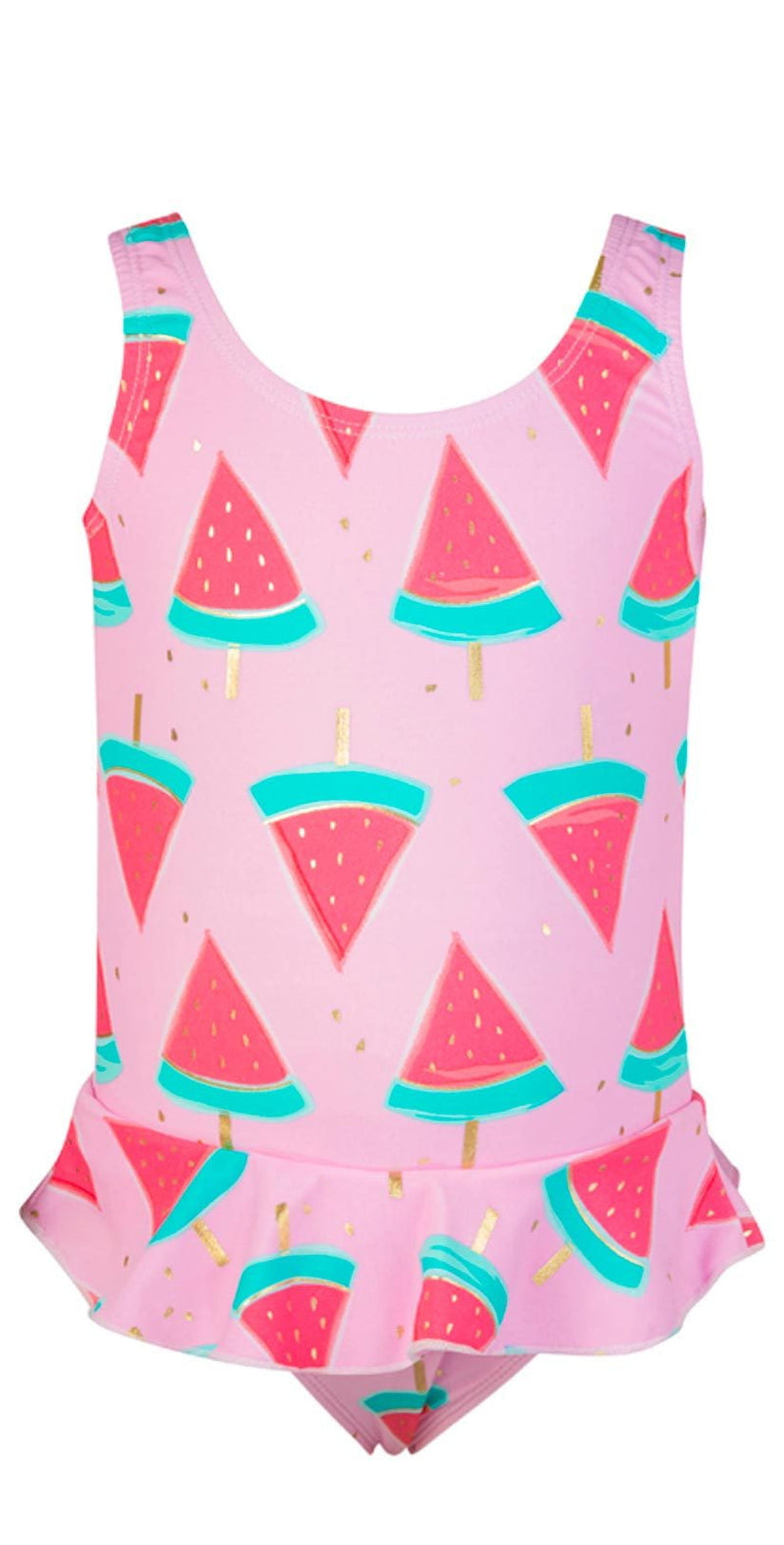 Snapperrock Little Girl's Skirted Watermelon Swimsuit G13049: