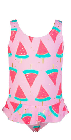 Snapperrock Watermelon Little Girl's Skirted Swimsuit G13049