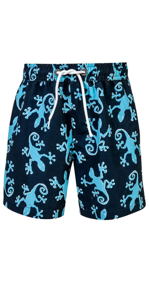 Snapperrock Boy's Gecko Navy Board Shorts