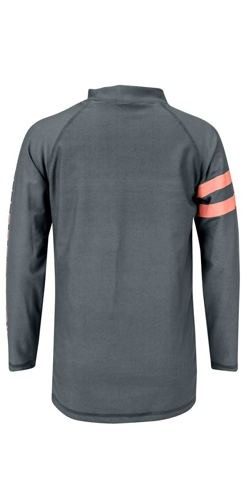 Snapperrock Boy's Arm Band Long Sleeve Rashguard Top in Steel Grey B20056L: