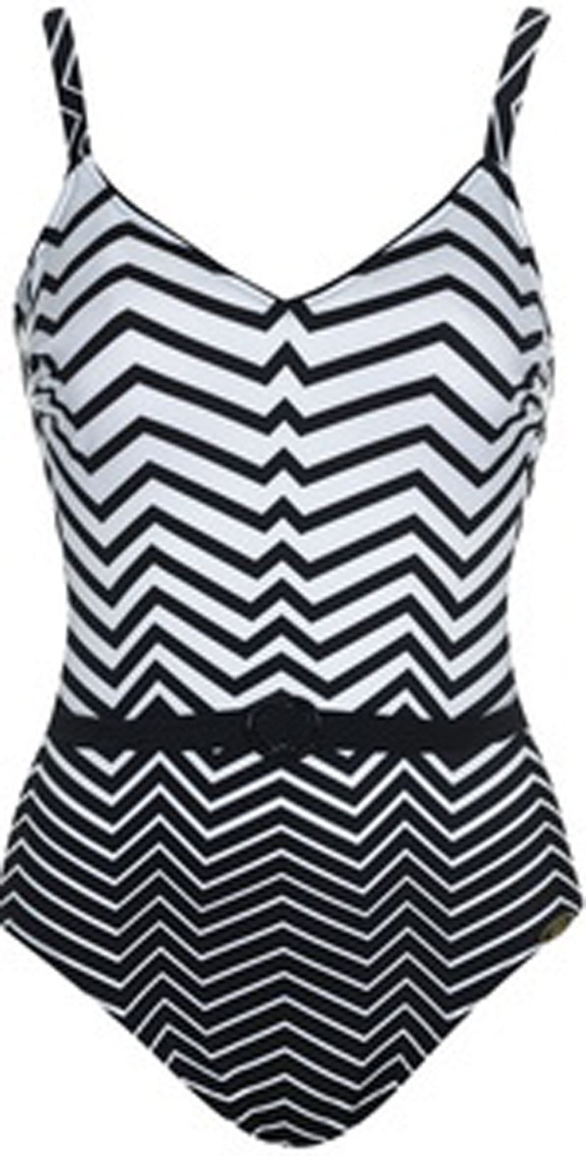 Sunflair Easy Line One Piece Swimsuit 22113 BLK: