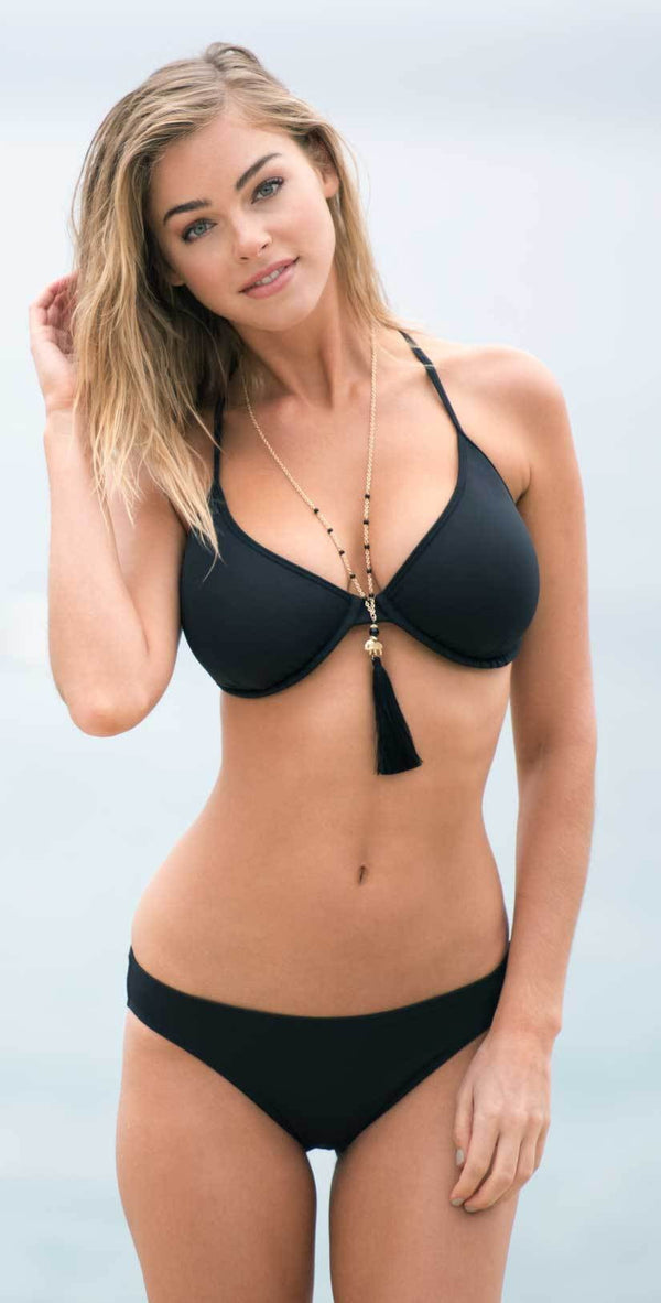 Sunsets Black Jayne X-Back Underwire Top 60T-BLCK