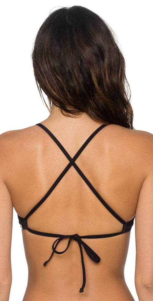 Sunsets Jayne X-Back Underwire Top in Black 60T-BLCK back