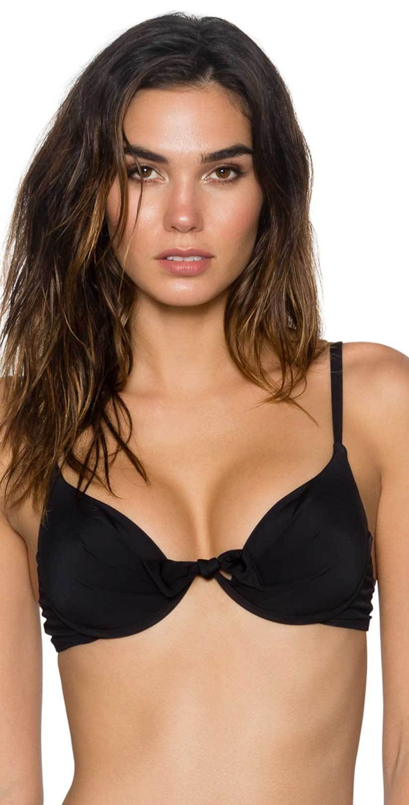 Sunsets Legend Underwire Push Up Top in Black 71T-BLCK: